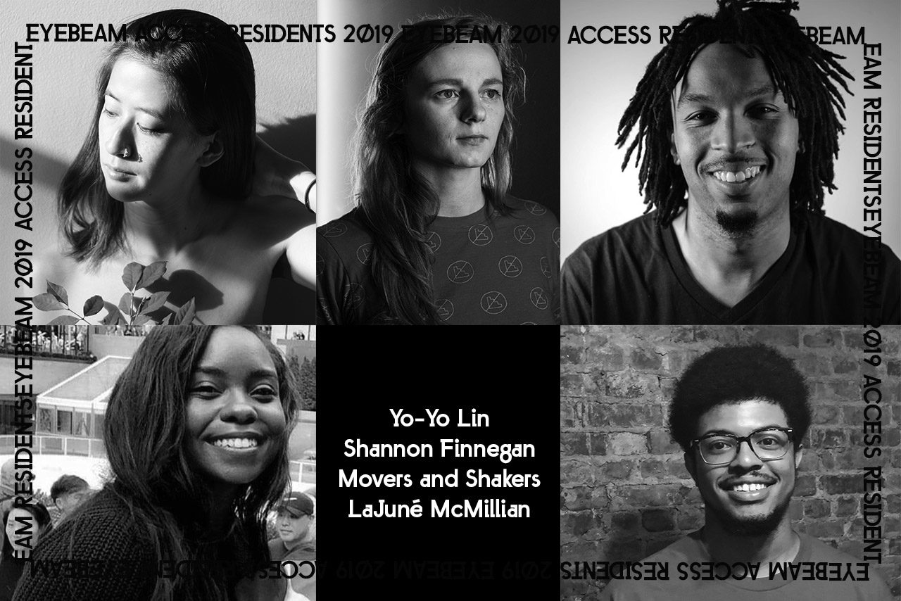 Grid of 2019 ACCESS residents, in order from left to right: Yo-Yo Lin, Shannon Finnegan, Glenn Cantave, Idris Brewster and LaJuné McMillian