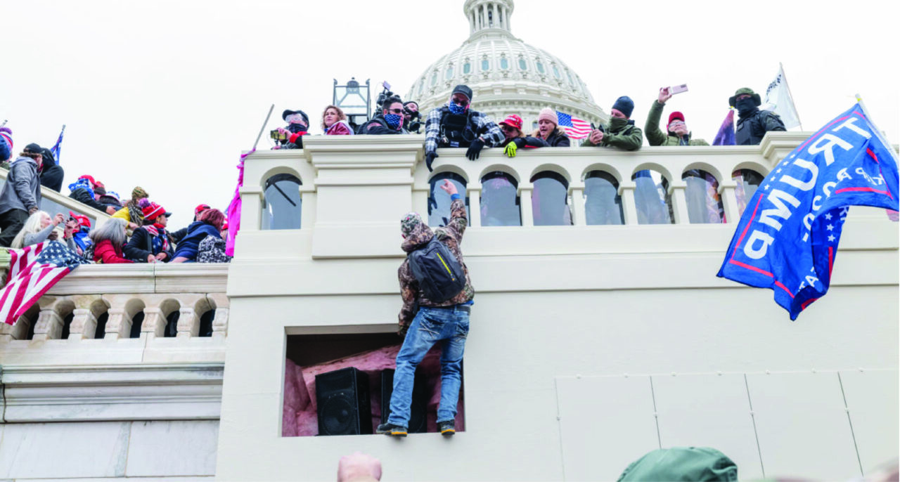 Photograph of the insurrection at the Capitol