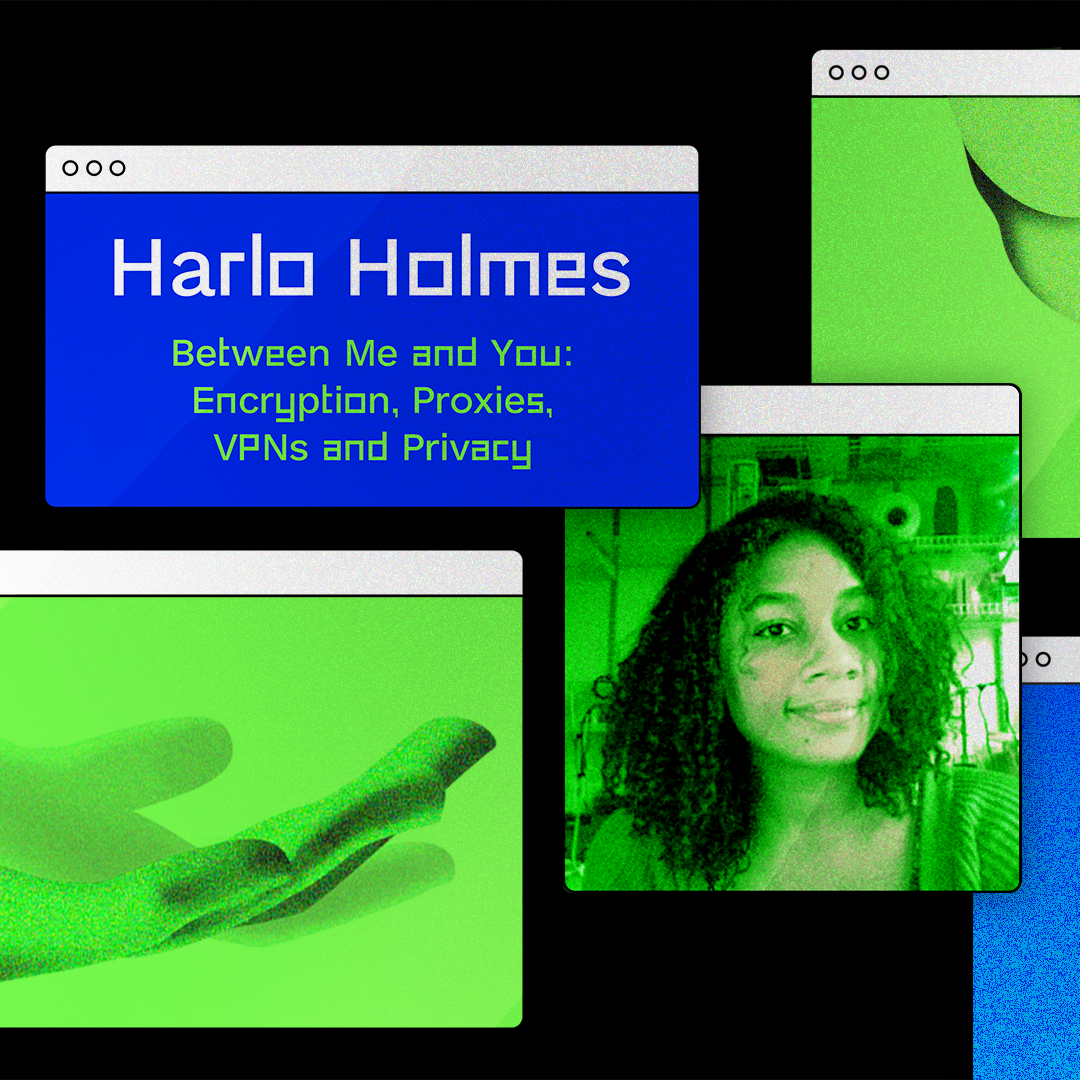 Harlo Holmes pictured in computer graphic with her DDC course
