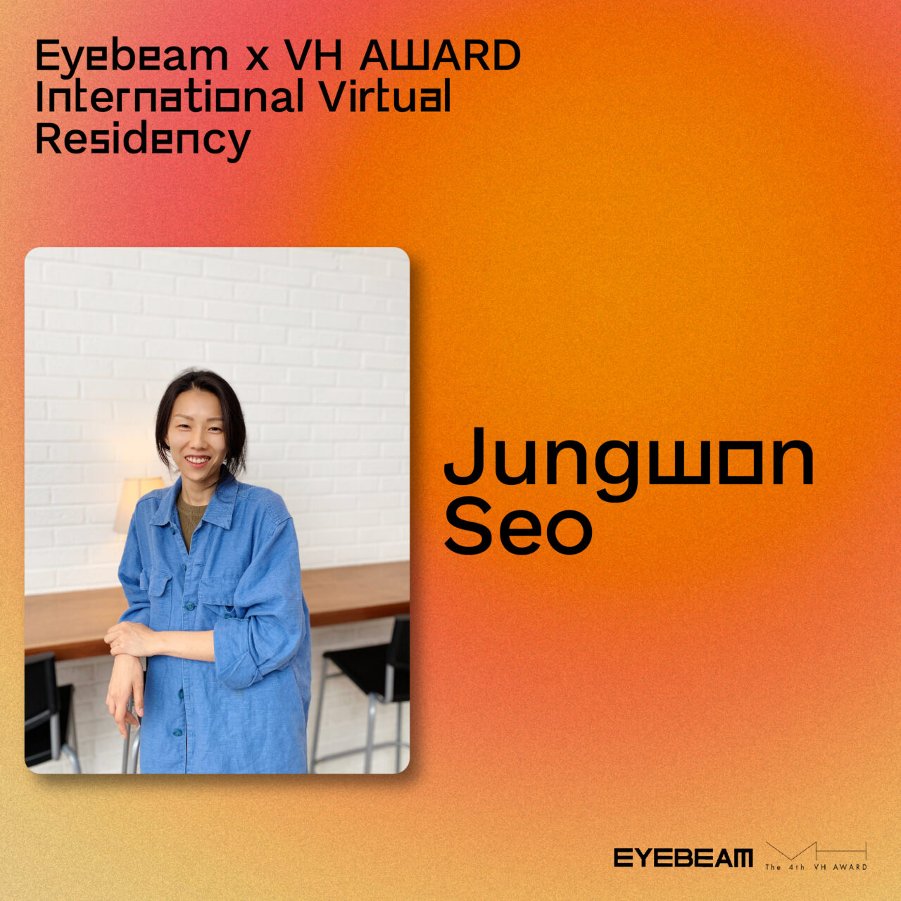 Gradient background with a photo of Jungwong in the foreground.